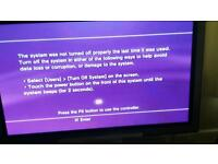 """48"""" TV and HDD with Freeview Sony Playstation 1&3 Bundle"""