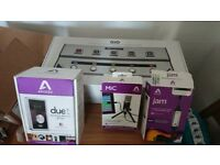 Audio interface mic pedel board Apogee recording equipment bundle including new duet.