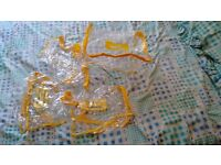4 plastic zip storage bags