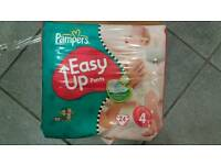 Pampers easy up nappies size 4 child kids job lot
