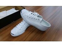 NEW Converse Jack Purcell White Leather Trainers Unisex Mens Womens size UK 6 EU 40