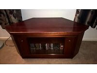 Mahogany corner TV cabinet