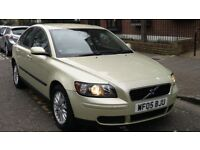 VOLVO S40 2.0 SE DIESEL 2005 05 REG GREEN 4 DOOR SALOON 6 SPEED MANUAL PAS A/C 129K - 07826 336 398