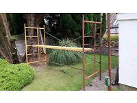 Scaffold Tower. All steel scaffold tower. 3 metres long, 2 metres high and 1 metre wide