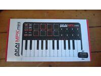 Akai Mpk mini laptop production keyboard midi controller