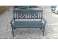 Grey Wooden Garden Bench - can deliver