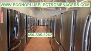 ECONOPLUS LIQUIDATION  LE PLUS GRAND CHOIX DE REFRIGERATEURS INOX 3 PORTES A PARTIR DE 999.99$ TAXES INCLUSES