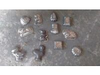 Mixed lot of older chocolate moulds