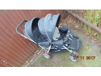 Safety First Double Pushchair Blue Excellent Condition