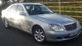MERCEDES S320. MINT CONDITION. ORIGINALLY OWNED BY A DOCTOR THEN 1 CAREFUL OWNER. SERVICE HISTORY