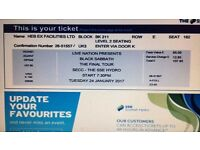 Black Sabbath ticket Glasgow Hydro
