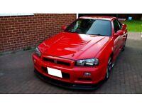 Nissan Skyline R34 GTR Rare AR2 Red Forged Engine Full History 500 BHP Stunning