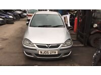 2005 Vauxhall Corsa SXI Twinport 3dr Hatch 1.2 Petrol Silver BREAKING FOR SPARES