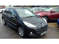 2010/10 PEUGEOT 207 1.6 VTi ALLURE 3 DOOR, STUNNING LOOKING CAR WITH FULL BLACK HEATED LEATHER