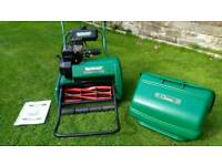 "Qualcast 17"" self propelled cylinder lawnmower, serviced, petrol lawnmower"