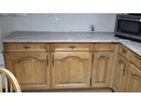 Beautiful Moores Solid Oak Kitchen and Utility Excellent Condition with 4 Chairs and Table to match