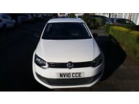 vw polo s 2010 white 1.2 petrol 76 000 miles 1 year mot
