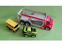 Car transporter &2 vehicles kid galaxy
