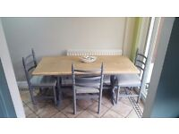 Shabby Chic Farmhouse Dining Table & Chairs