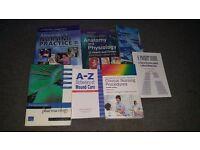 Student nurse course books.