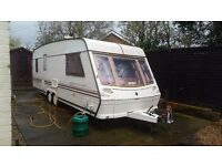 1997 Abbey Spectrum twin axle 4 berth fixed bed caravan,comes with full awning