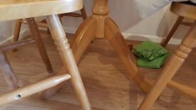 Table and 4 chairs - great for doing up!
