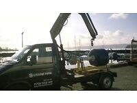hiab hire,mini crane,Crane Hire,UK,lathe,engines,hot tub,boat,spas,transport,removal,mini crane,