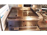 CAFE TAKEAWAY PARRY LPG GRIDDLE FLAT GRIDDLE 2 BURNER LPG GAS PARRY FLAT GRILL CATERING FASTFOOD