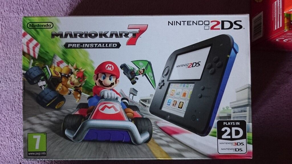 New Nintendo 2DS Blue+ Mario Kart 7