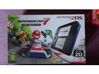 New Nintendo 2DS Blue+ Mario Kart 7