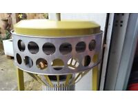 1960,s ALADDIN 33 TREBLE 01 STYLE PARAFFIN HEATER IN YELLOW