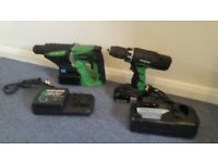 Hitachi power tools set hammer and drill