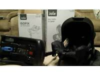 Joie Juva car seat and isofix base