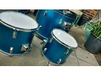 Boston metallic blue drum kit complete set