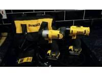 Dewalt 10.8v Lithium ion cordless drill driver impact driver