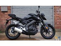 As new Yamaha MT125 MotorBike (learner legal)