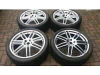AUDI VW STYLE 22 INCH ALLOY WHEELS 5X120 TRANSPORTER T5 T6 VW AMAROK 285 35 22