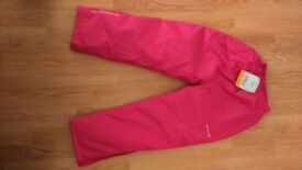 Regatta Girls Pink Padded Chandler Overtrousers - Brand New with Tag - 7-8 years