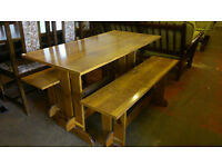 Dining table with 2 bench seats (delivery available)