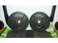 York 20kg weight plates