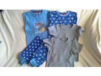 2 Boys Pyjamas + 2 underwear tops