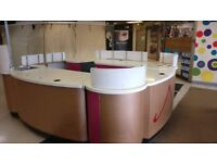 Retail Shopping Mall Kiosk (2m square with sink, hot water tank, electrics and signage)