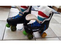 Original bauer turbo 33 pro 8 quad skates excellent condition size 6