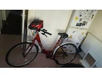 Hybrid bike red
