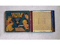 Peg Five British Board Game 1940s Vintage Edition by Bell. A skillful fascinating game for 2 players