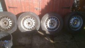 Winter tyres on steel rims 205/65/16 C