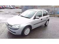 2002 Vauxhall Corsa Club 1.0 Petrol 5 Door 8 Month MOT 73000 Miles Only....