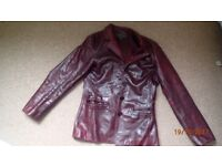 Leather jacket, size 10, River Island