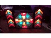 3 x lightboxes 1 large and 2 sides and controller units and leads included