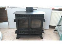 Wood Burning/multi fuel stove. Hunter, believed to be 14 to 16KW